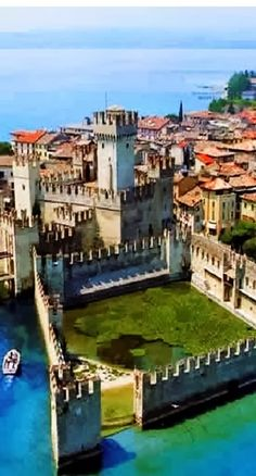 Castle of Sirmione ~ 13th century, on Lake Garda, Italy