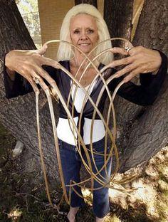 Old women, long fingernails