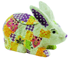 Decopatch Easter Rabbit Bunny DIY decorated papier mache animal decoupage.