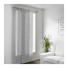 IKEA - ANNO SANELA, Panel curtain, beige, , Can also be used as a room divider, to hide open storage or instead of a door.Easy to shorten to the desired length by simply cutting.