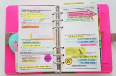 How I organize in my Filofax by insidethecrafterstudio.com