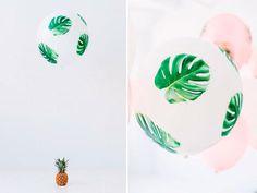 DIY * decorar globos con la técnica decoupage