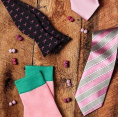Regram from @tiesdotcom – Kick off breast cancer awareness month with all things pink and dapper! #instamood #breatcancerawareness #bowtie #dapper #pink