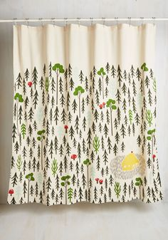 Home Sweet Hideaway Shower Curtain. The charms of the great outdoors dont have to stop at the front door - bring them into your abode with this charming shower curtain. #multi #modcloth