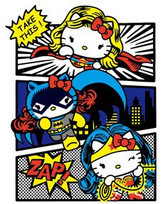 #HelloKitty #SuperHeroes ....@(^o^)@