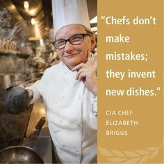 institute culinary america briggs chef the at of Chef Briggs at The Culinary Institute of AmericaYou can find Culinary quotes and more on our website Cooking Icon, Cooking Chef, Cooking Classes, Girl Cooking, Cooking Tools, Cooking Ideas, Chef Quotes, Foodie Quotes, Chefs