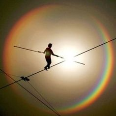 Really cool tightrope photo