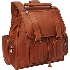 65a8f0f382 Piel Leather Double Loop Flap-Over Laptop Backpack, Saddle Review