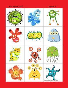 Preschool Games, Activities For Kids, Bacteria Cartoon, Les Microbes, School Nurse Office, Hand Washing Poster, Blog Art, Health Activities, Hygiene