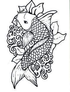 Fish Coloring Page for Adults Fish Coloring Page for Adults. Fish Coloring Page for Adults. Japanese Coloring Pages in fish coloring page Japanese Fish Coloring Pages Fish Coloring Page, Colouring Pages, Adult Coloring Pages, Coloring Pages For Kids, Coloring Sheets, Coloring Books, Koi Fish Colors, Fish Outline, Koi Fish Tattoo