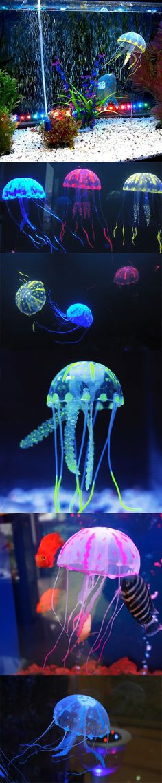 10cm Glowing Aquarium Artificial Jellyfish