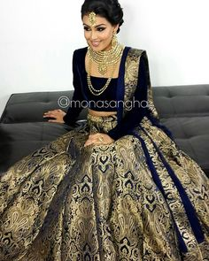 """Clearly this lengha is a hit Hair & Makeup: @monasangha Lengha: @delhicouturecollections Jewelry: @parasfashions #keepingupwithmona #monasangha #mua…"""