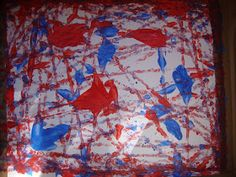 Learn and Grow Designs Website: Fourth of July Firework Painting Craft for Kids