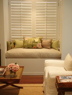 Beautiful window seat - warm, fresh, inviting - French Provincial style in Sydney, Australia