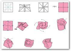Como hacer flores origami - Imagui