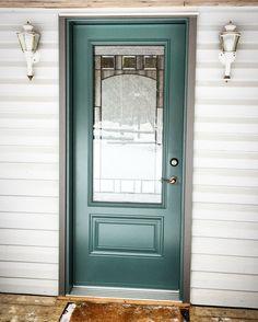 steel Entry Door w/ Bistro Glass Entry Doors, Steel, Mirror, Glass, Furniture, Home Decor, Front Doors, Homemade Home Decor, Drinkware