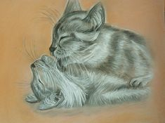 Original painting from the artist Pastel drawing от AtamanskiyArt