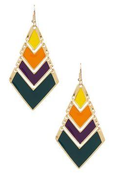 Serena Enamel Dangle Earrings