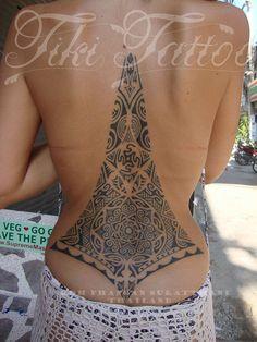 polynesian/Maori style tattoos done by hand at Tiki Tattoo studio Koh phangan Thailand by TIKI Tattoo Koh Phangan, via Flickr