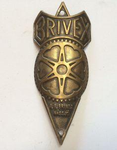 Original Prewar 1930s Bike Head Badge Steuerkopfschild ++BRIVEX in Other   eBay