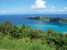 Drake's Seat - The vantage point where Sir Francis Drake looked for enemy ships. Panoramic view of the Caribbean Sea.