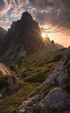 amazing mountain sunset