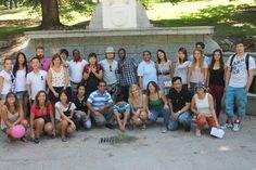 Grupo de alumnos y profesores.