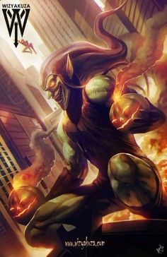 imagenes del duende verde vs spiderman