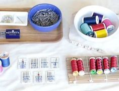 Learn Machine Sewing: Needle and Thread Basics with this free online course! *affiliate link* #sewing #DIYclasses #crafts #creative