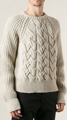 Patrón para el suéter de un hombre
