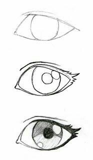 Drawing CartoonDisneyHalf anime Eyes!