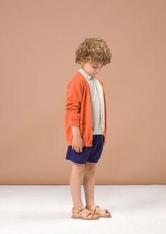 Fennel Cardigan, Mandarine, 10y by Caramel Baby & Child   Caramel Baby & Child