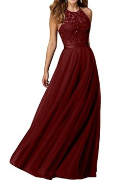Audrey Bride Sexy Halter Long Prom Dresses Beaded Evening Gowns for…