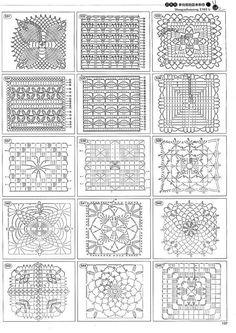 Captivating All About Crochet Ideas. Awe Inspiring All About Crochet Ideas. Crochet Motif Patterns, Crochet Blocks, Crochet Diagram, Square Patterns, Crochet Chart, Crochet Squares, Crochet Granny, Crochet Doilies, Granny Pattern