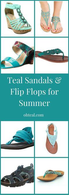 Teal Sandals & Flip Flops for Summer