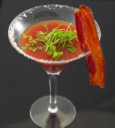 FoodInk's Smokey Bloody Mary included candied bacon on the rim for a summer barbecue event. Photo: Courtesy of foodink