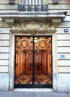 Details from Paris and the Paris Flea Market Gate Design, Door Design, Iron Front Door, Art Deco Door, Entry Doors With Glass, Paris Flea Markets, Wrought Iron Doors, My Home Design, Art Nouveau Design