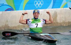 Canoeing Joseph Clarke of Great Britain celebrates after winning gold in the Kayak (K1) Men's Final on Day 5 of the Rio 2016 Olympic Games at Whitewater Stadium on August 10, 2016 in Rio de Janeiro, Brazil. (Canoeing Joseph Clarke of Great Britain celebrates after winning gold in the Kayak (K1) Men's Final on Day 5 of the Rio 2016 Olympic Games at Whitewater Stadium on August 10, 2016 in Rio de Janeiro, Brazil.