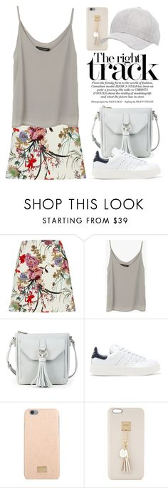 """""""Printed Skirt 3136"""" by boxthoughts ❤ liked on Polyvore featuring River Island, Sole Society, adidas Originals, Dolce&Gabbana, Iphoria and Charlotte Russe"""