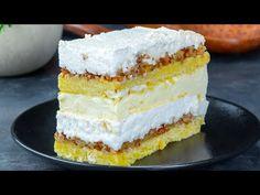 Am impartit reteta cu toti oaspetii. E bestiala aceasta prajitura cu nuci si bezea - YouTube Cake Toppings, Chocolates, Vanilla Cake, Desserts, Recipes, Food, Walnut Cake, Merengue, Pies