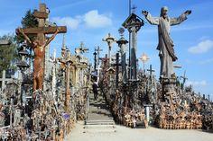 Hill of Crosses Lithuania - 15 Incredibly Creepy European Travel Destinations - Hoia-Baciu Forest, Romania | Guff