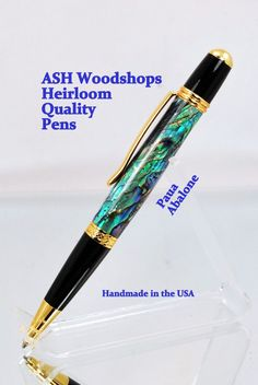 A personal favorite from my Etsy shop https://www.etsy.com/listing/213694436/handmade-paua-abalone-shell-pen