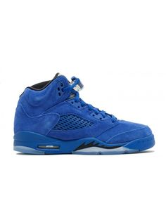 low priced f13c7 00aa2 Nike Air Jordan 5 Retro Bg Gs Blue Suede Game Royal Black Game Royal Outlet  Nike