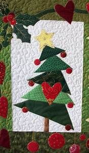TREE #3 Star and Heart Christmas Tree Quilt Block ...