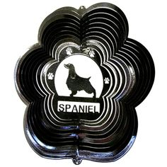 "12"" Spaniel - Black Starlight Wind Spinner. #spaniel"