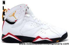 Buy Cheap Cardinals (White/Black-Cardinal Red-Bronze) Air Jordan 7 (VII) Retro Fashion Shoes Store