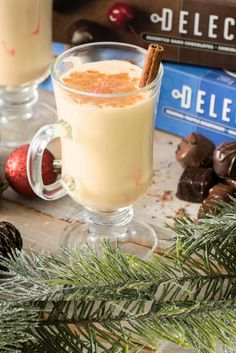 We're getting in the holiday spirit with Eggnog and Delecto. Chocolate Box, Chocolates, Spirit, Holidays, Ethnic Recipes, Food, Holidays Events, Schokolade, Chocolate