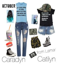 """""""CARADYN AND CAITLYN"""" by shorty6112 on Polyvore featuring Topshop, One Teaspoon, Converse, Dr. Martens, Skinnydip, DC Shoes, INC International Concepts and Primitives By Kathy"""