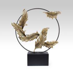 feathers ceramic sculpture deco furniture branch bird 装饰  陶瓷 书法  摆件 屏风  鸟 透明 金属