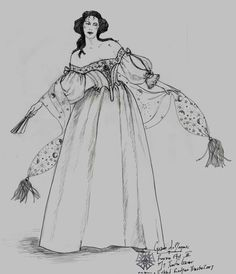 Cyrano de Bergerac (Roxanne). Broadway. Costume design by